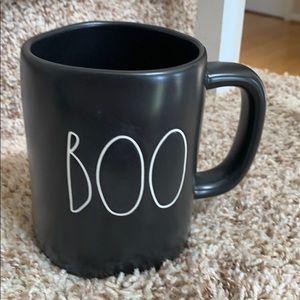 Rae Dunn BOO mug black matte